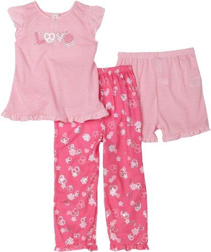 Little Me Little Girls'  Little Girls'  Love 3 Piece Sleepwear Set