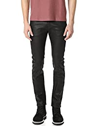 Naked & Famous Denim mens Superskinnyguy Black Waxed Stretch Jeans