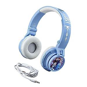 eKids Disney Frozen 2 Wireless Bluetooth Portable Kids Headphones with Microphone, Anna & Elsa Volume Reduced to Protect…