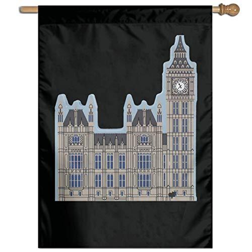 Ambulseek London Clock Big Ben Vertical Garden Flag Family Party Flag Only One Side 27