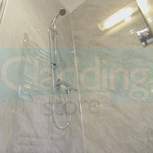 5mm GREY MARBLE WALL PANEL & CEILING PANEL HI-GLOSS .Tongue and Grooved . Ideal for your bath/shower walls going over tiles and on your ceiling 100% waterproof Endure