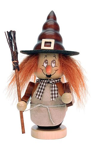 German Incense Smoker Mini Gnome Witch - 16cm / 6 inch - Christian Ulbricht