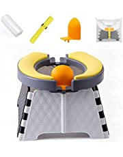 Portable Potty Training Seat for Toddler - 2021 New Kids Travel Potty,Foldable Toilet Seat,Baby Potty Seat for Indoor and Outdoor ,with 30 Disposable Bags(Upgraded version )