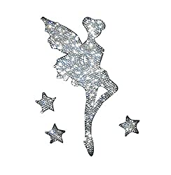 Car Bumper Rhinestone Fairy Faces Right Sticker