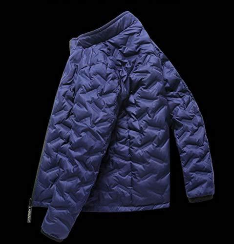 Chaqueta Azul Hombre Casual De Para Plumón Invierno Abrigo Xghw gnd18xg