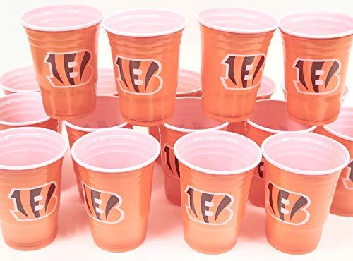 Cincinnati Bengals Jumbo party cups set of 36. Large plastic colorful 18 oz. game day plastic -