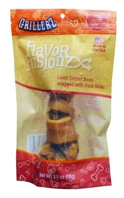Lamb Ham - Scott Pet At322 Flavor Fusion Ham Skin Warped Lamb Trotter Dog Bone, One Size