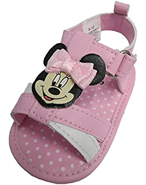 Minnie Mouse Pink Girls Baby Sandals