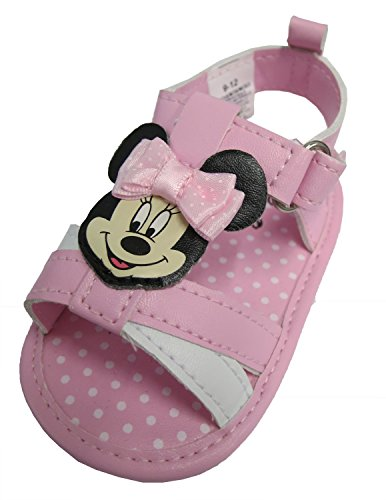 [Disney Minnie Mouse Pink Girls Baby Sandals - Size 6-9 Months [3013]] (Minnie Mouse Outfit For Babies)