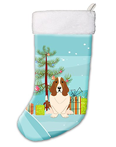 Merry Christmas Tree Basset Hound Christmas Stocking BB4146CS