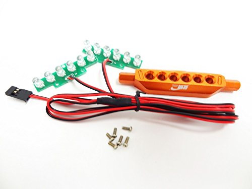 King Motor LED Brake Light Kit And Aluminum Mount (orange) Fits HPI Baja 5B SS 2.0 King Motor and Rovan Baja Buggies