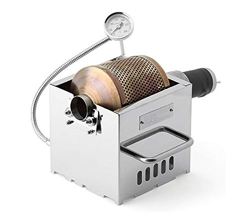 KALDI Mini Size (200~250g) Home Coffee Roaster Including Thermometer -Gas Burner Required (Motorize with Sampler & Hopper)