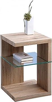 HomeTrends4You 516063 Table d'appoint - table de chevet - décor laminé Sanremo coloris chêne sable - 40 x 60 x 40 cm