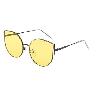 RISTHY Gafas de Sol Extragrande Redondo Marco Metal Gafas de ...