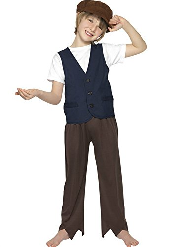 Children's Book Week Costume Ideas (Boys Adventure Big Boys' Ren Victorian Poor Peasant Fancy Dres Costume Ages 10-12 Years Blue And Brown)