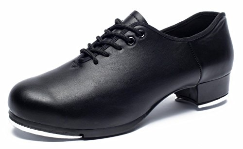 Men's Oxford Lace up Jazz Tap Dance Shoes (13US/49, Black) (Best Tap Shoes For Adults)