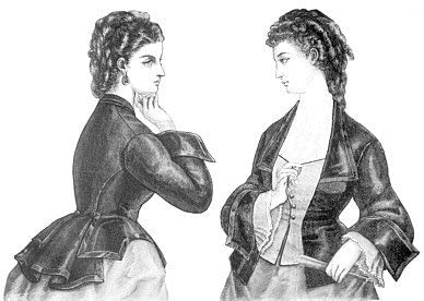 Victorian Clothing, Costumes & 1800s Fashion 1872 Vest Basque Bodice Pattern                               $12.70 AT vintagedancer.com
