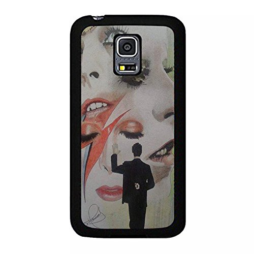 Samsung Galaxy S5 Mini Cover Shell Stylish Makeup Design GlamRock style Musician David Bowie Phone Case Cover Great Singer Perfect