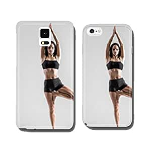 Yoga girl in asana Vriksasana, Tree Pose cell phone cover case iPhone5