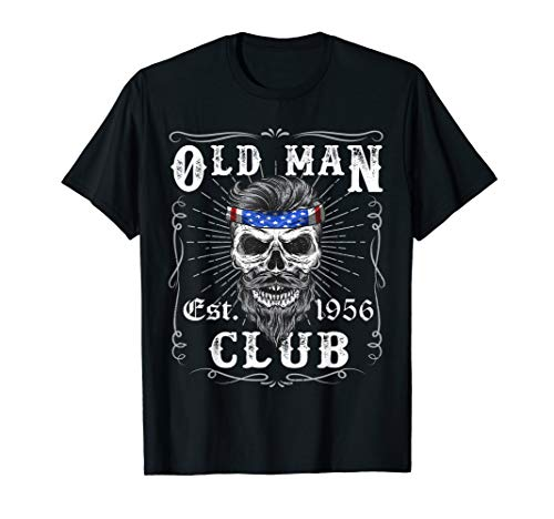 - Mens Old Man Club 63rd Birthday Gift Born in 1956 Est 63 Year T-Shirt
