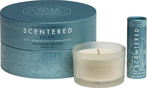 Scentered - Bálsamo y vela de aromaterapia Escape - Pack regalo de ...