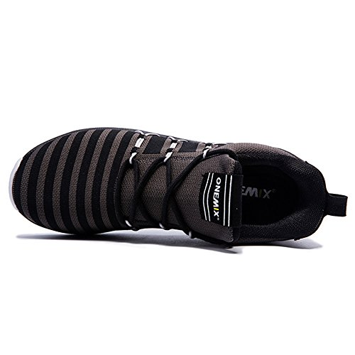 Onemix Baskets Basses Homme Chaussures de Running Entrainement Homme Ultraléger Air Grey Black 8iQuhJwEoj