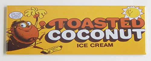(Toasted Coconut Ice Cream Sign Fridge Magnet (1.5 x 4.5 inches))