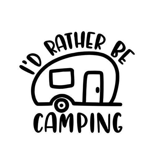 Id Rather be Camping Car Decal