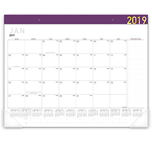 - AT-A-GLANCE 2019 Desk Calendar, Desk Pad, 21-3/4