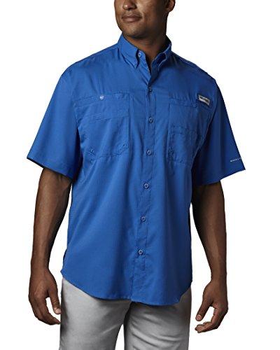 Columbia Men's Tamiami II Short Sleeve Fishing Shirt, Vivid Blue, X-Large