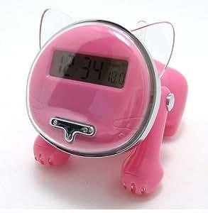 Amazon.com: iBRIGHT LLC Talking Kitten Cat Shape Talking Alarm Clock - Pink: Home Audio & Theater