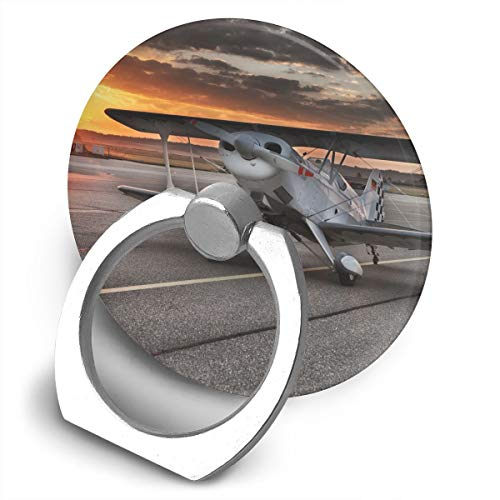 Round Finger Ring Stand Phone Holder Grip Plane Runway 360°Rotation Kickstand for Smartphones and IPad