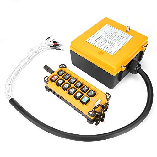 Crane Chain Hoist Push Button Switch 1 Transmitters + 1 Receiver Hoist Crane Wireless Remote Controller 12 Buttons by Wal front (Image #4)