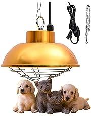 Lampy grzewcze dla drobiu Regulowana temperatura 150W-350W, Halogenowa lampa grzewcza do hodowli, lampa grzewcza dla szczenit, idealna do uytku w gospodarstwie i hodowli zwierzt