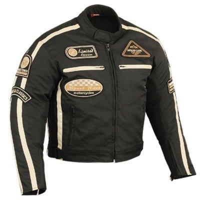 Motorradjacke Herren Motorrad Jacke Cordura Textil Roller Quad Biker Touring Touren Schwarz XL