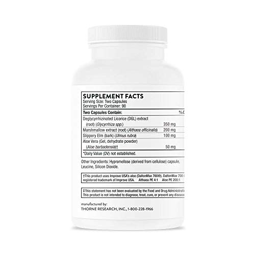 Thorne Research - GI-Encap - Botanical Supplement for GI Tract Support - 180 Capsules