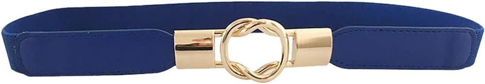 MaxFox Casual Leather Belt for women Ladies Slim Thin Waist Dress Access Shiny Skinny Interlocking Buckle Waistband Sashes
