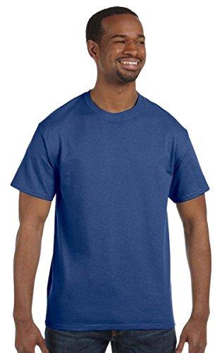 Jerzees Dri-Power Mens Active T-Shirt Large Vintage Heather Blue