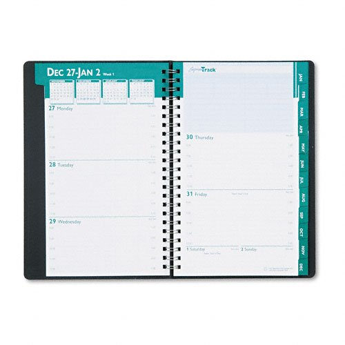 House of Doolittle 29402 Express Track Weekly/Monthly Appointment Book, 5 x 8, Black, 2016-2017]()