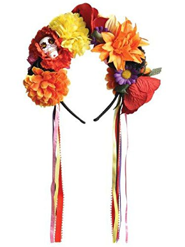 Sugar Skull Costume Accessories (Standard Adult Day Of The Dead Headband)