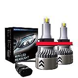 SAWAKU H11/H8/H9/H16 LED Headlight Kits, CSP Chips - 60W 9600LM 6000K-Hi/Lo Beam/Fog Light Bulbs (Pack of 2)