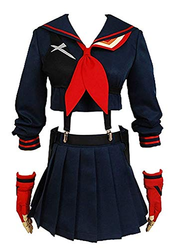 Ya-cos Halloween Girl's Battlesuit Ryuko Matoi Dress Outfit Cosplay -