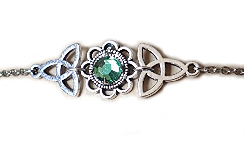 Moon Maiden Jewelry Celtic Triquetra Trinity Knot Headpiece Light Green ()