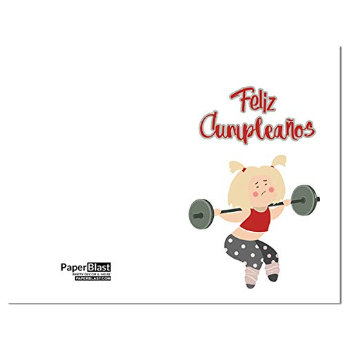 Amazon.com: Funny Girl Feliz Cumpleanos Birthday Card in ...