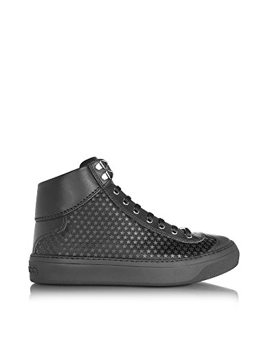 JIMMY-CHOO-MENS-ARGYLEAMRBLACKBLACK-BLACK-LEATHER-HI-TOP-SNEAKERS