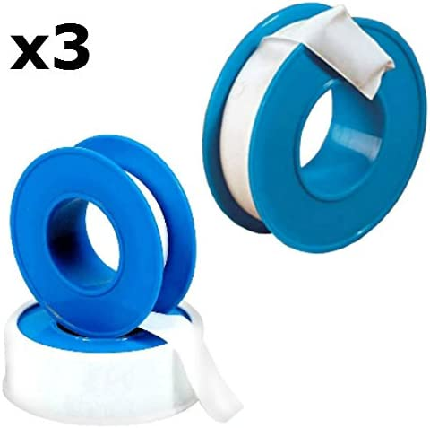 PTFE Film Tape 25mm x 12mtrs White Plumbers Joint Thread Teflon Tape 3 OFF
