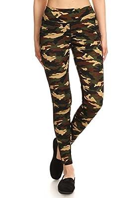 Leggings Depot Women's Printed Performance Activewear -Yoga Fitting Pants