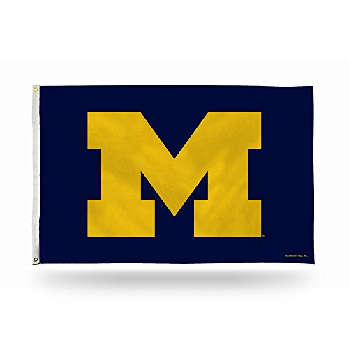NCAA Michigan Wolverines 3-Foot by 5-Foot Single Sided Banner Flag with Grommets