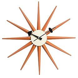 MLF Nelson Sunburst Clock, Orange
