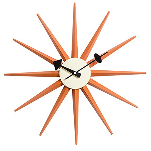 - MLF Nelson Sunburst Clock, Orange